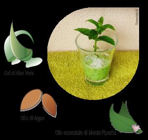 Scrub viso menta cocco argan aloe vera - Flower Tales cosmetica naturale fai da te