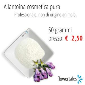 allantoina pura cosmetica naturale fai da te Flower Tales - cosmetici naturali homemade