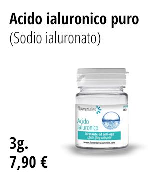 acido ialuronico gel naturale puro 1% idratante dove acquistare - Flower Tales cosmetica naturale fai da te