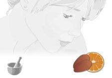 maschera viso al cioccolato ed arancio dolce