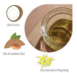 olio capelli al macassar - Flower Tales: cosmetica naturale fai da te