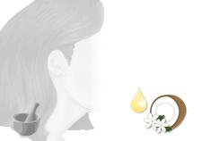ricetta balsamo capelli all'olio di monoi - Flower Tales cosmetica naturale fai da te