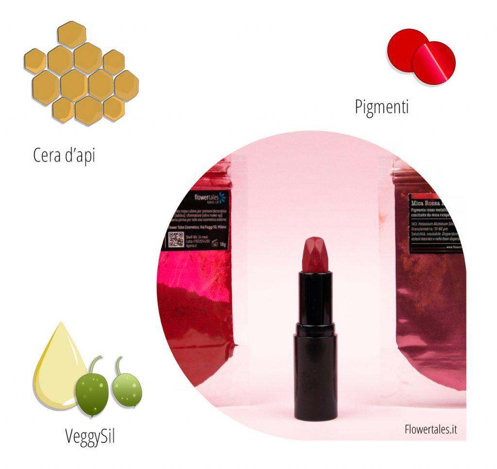 rossetto estivo fai-da-te rosso rubino metalizzato ricetta video tutorial cosmesi naturale
