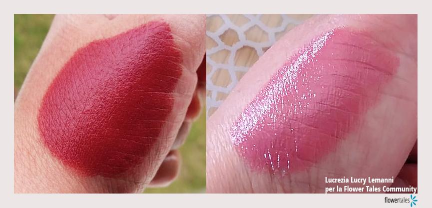 Stick labbra studio di autoproduzione - rossetto matt e rossetto lucido cosmesi naturale fai-da-te e bio make-up Flower Tales